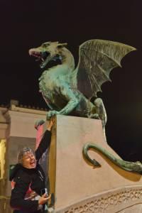 A dragon in Ljubljana, Slovenia