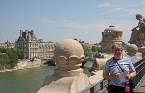 On the terrace of the Musee D'Orsay in Paris