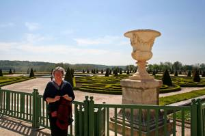 In the garden behind the palace of Versailles