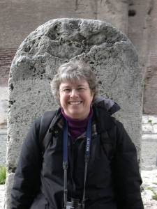 At a boundary stone in Rome