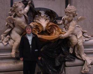 With the cherubim in St. Peter's in Rome