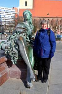 By the Neptune fountain in Berlin