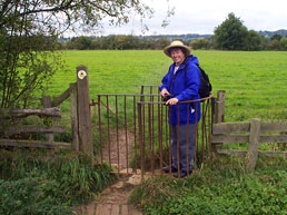 At a Kissing Gate on a walk in Shropshire, England