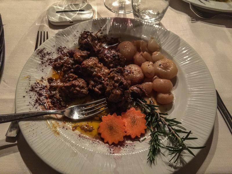 Wild boar dish at Le Fontecine