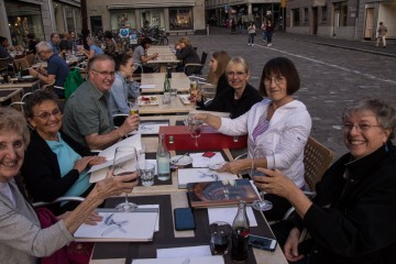 At dinner tonight we recapped the great day we had together. Best of all, Karen got through the day with much less pain and was able to be with us for everything.