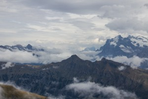 Mountains and clouds from Schilthorn