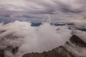 Up on Schilthorn the clouds were constantly shifting, so the views were always changing.