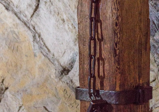 This is the type of manacle used to restrain prisoners in the dungeon of Castle Chillon.