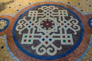 The mosaic work on the floor of the Galleria was fancier than the cathedral's!