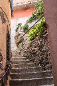 one section of stairway that we had to climb to get to our room in Vernazza
