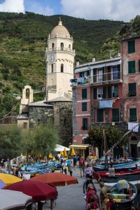 The main harbor area of Vernazza, the second city of the Cinque Terre