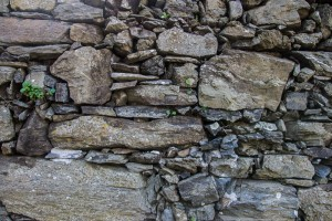 This is the typical rock wall you see all over Cinque Terre, especially on the hiking trails. The walls are built by hand, and there is no mortar holding the stones together.