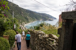 Having finished our lunch, we decided to take the train back to Vernazza. But first we had to get to the train station - way down there.