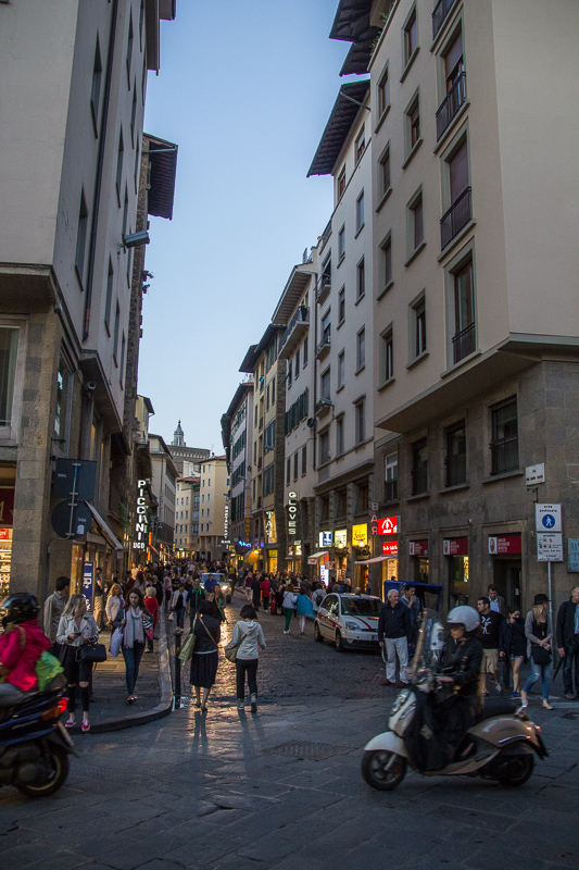 "The ""street"" of the Ponte Vecchio bridge in Florence."