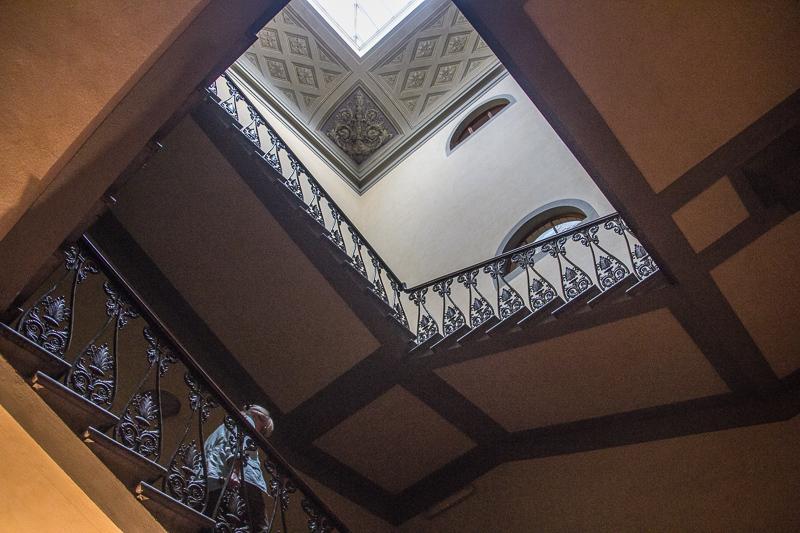 main staircase in Casa Santo Nome di Gesu