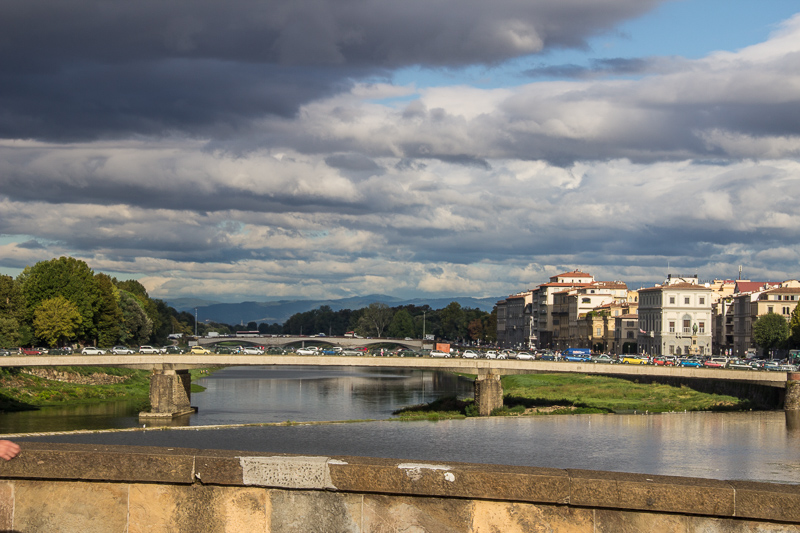 Crossing the Arno, Thursday morning in Florence