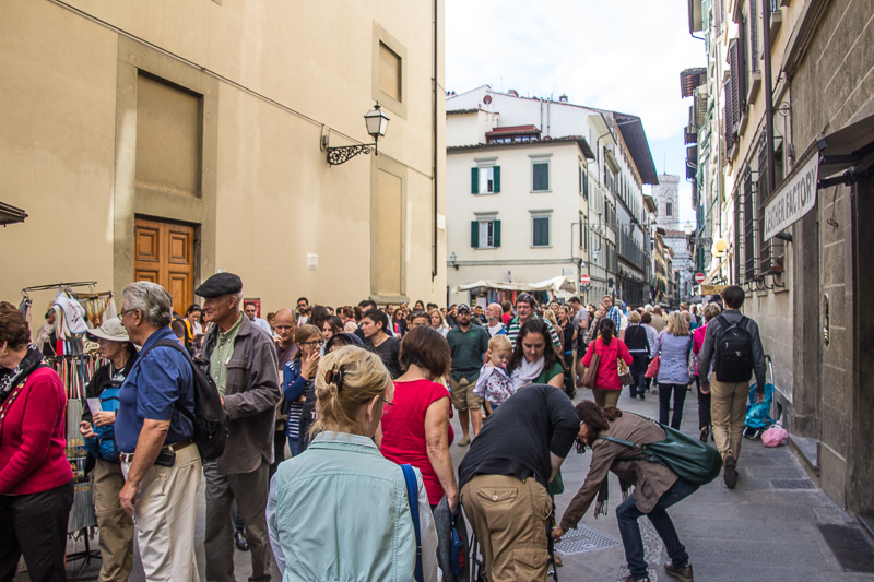 street scene near the Accademia
