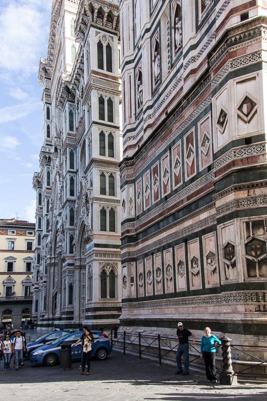 Karen by bell tower of Duomo