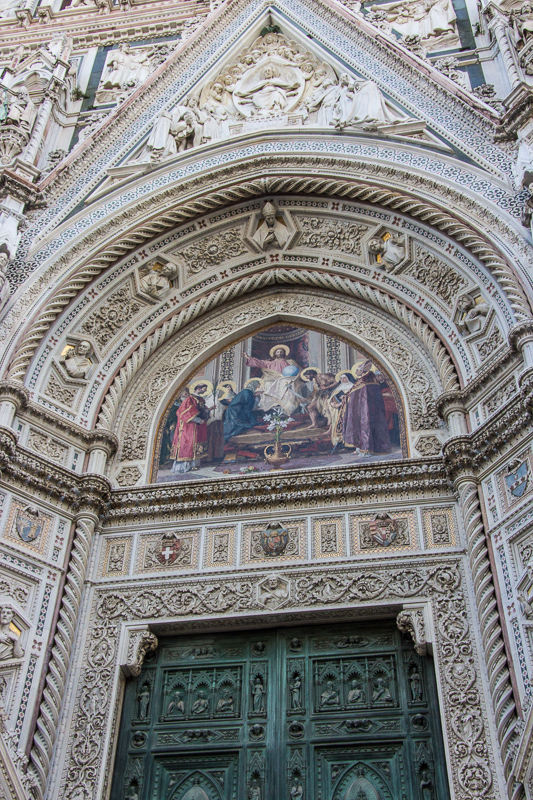 Detail of one of the doors to the Duomo