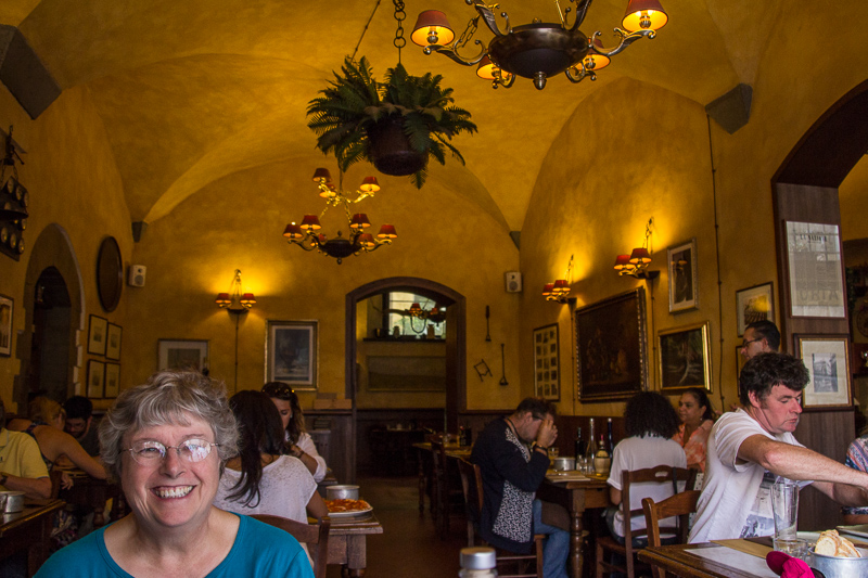 Karen and I had lunch here just before our tour of the Uffizi Gallery.