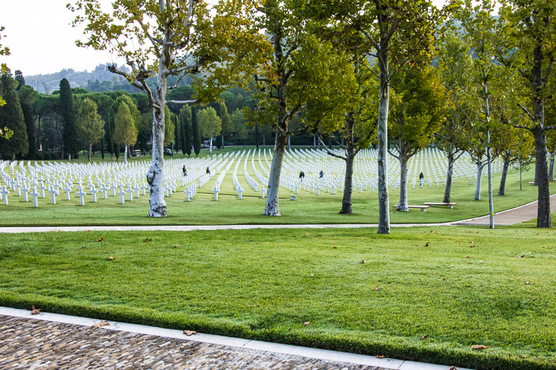 Cemetery and memorial to Americans who died in World War II in Italy