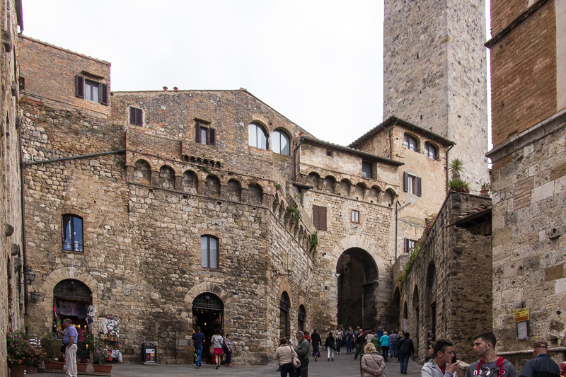Main piazza with towers, San Gimignano