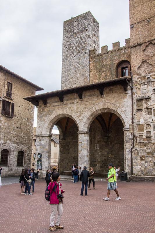 Public square in San Gimignano