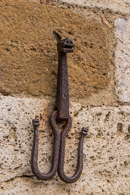 Hook on wall in San Gimignano