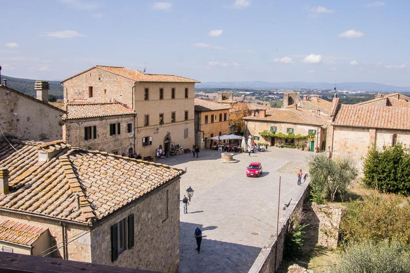 Town square of Monteriggioni