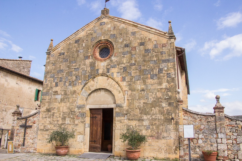 Stone church in Monteriggioni