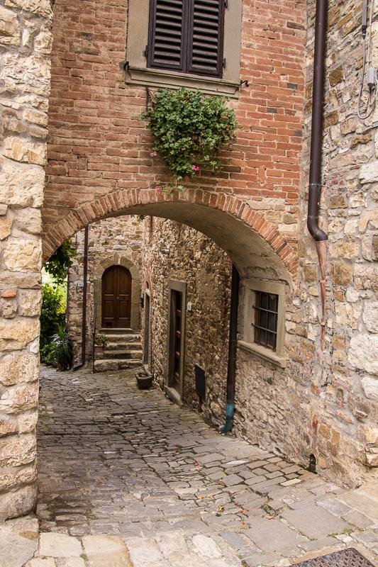 Street scene in Montefioralle