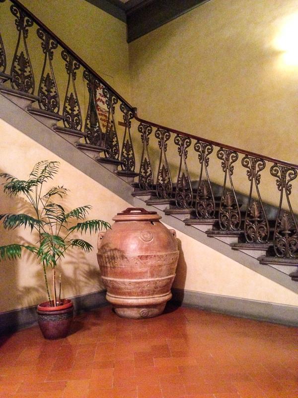 main stairway, Casa Santo Nome di Gesu