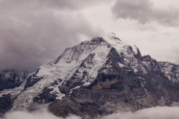 This is Jungfrau, the most famous of the three well-known mountain peaks in the Swiss Alps.
