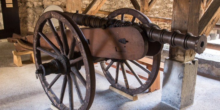 Cannon used to defend Castle Chillon from attack.