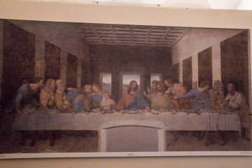 This is a photo of a photo of The Last Supper by Da Vinci. We went to see the original and got to spend 15 minutes with it! It was quite a moving experience.