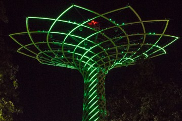 The Tree of Life is the iconic image of the 2015 World's Fair in Milan. The tree is beautiful, constantly changing colors.